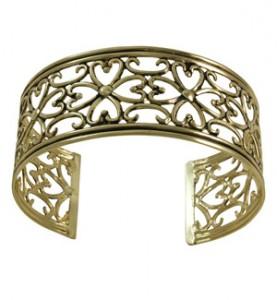 Thin Antique Gold Cuff