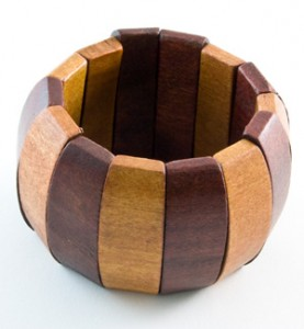Multi-Color Wood Bracelet