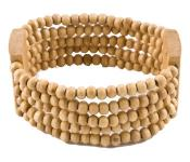 Thin Tan Beaded Bracelet