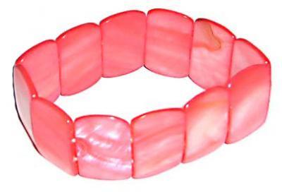 Thin Pink Shell Bracelet