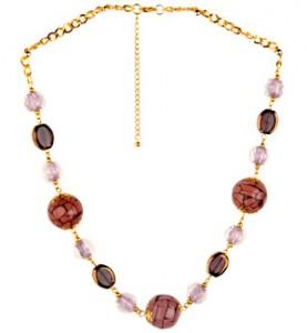 Purple Acrylic Bead Necklace