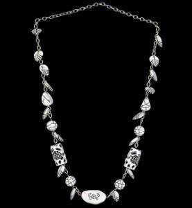 White Buddha Bead Necklace