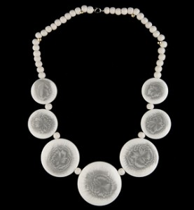 White Medallion Necklace