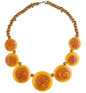 Yellow Medallion Necklace