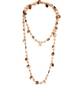 Brown Beads & Shell Necklace