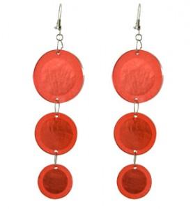 Long Red Arcylic Earrings