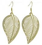Large Gold Leaf Earrings