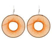 Orange Thread Earrings