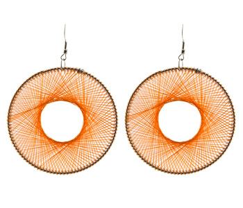 Orange Thread Earrings