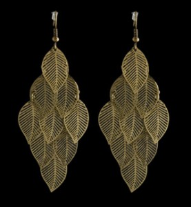 Brushed Gold Small Leafs