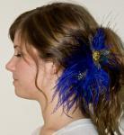 Purple Ostrich Hair Clip