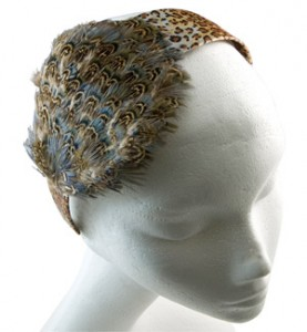 Leopard Feather Headband