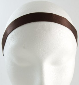 Elastic Brown Satin