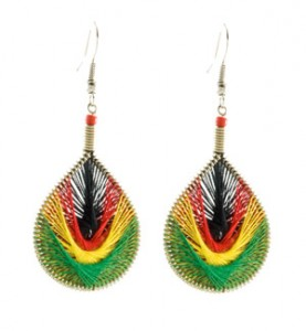 Rasta String Earrings