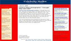 Celebrity Haiku