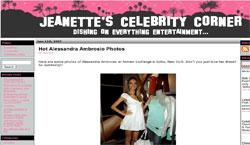 Jeanette's Celebrity Corner